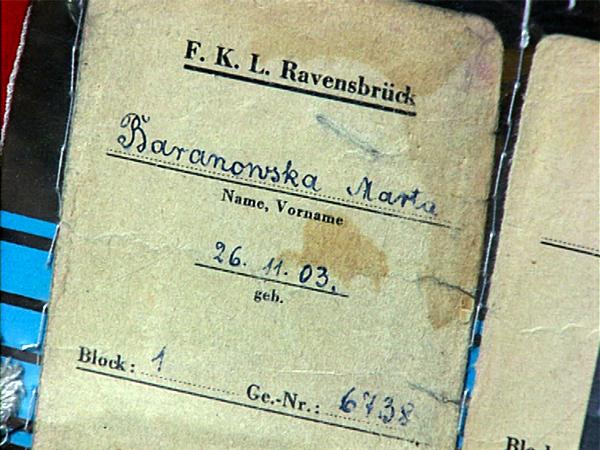 Teil der Lager-Akte der Polin Marta Baranowska aus Ravensbrück. (Quelle: Privat M. Baranowska)
